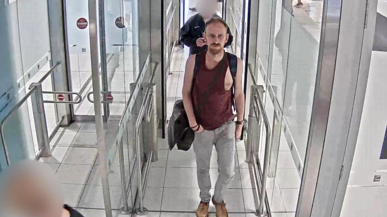 Anthony Stott at Brisbane Airport: Picture: NSW Police