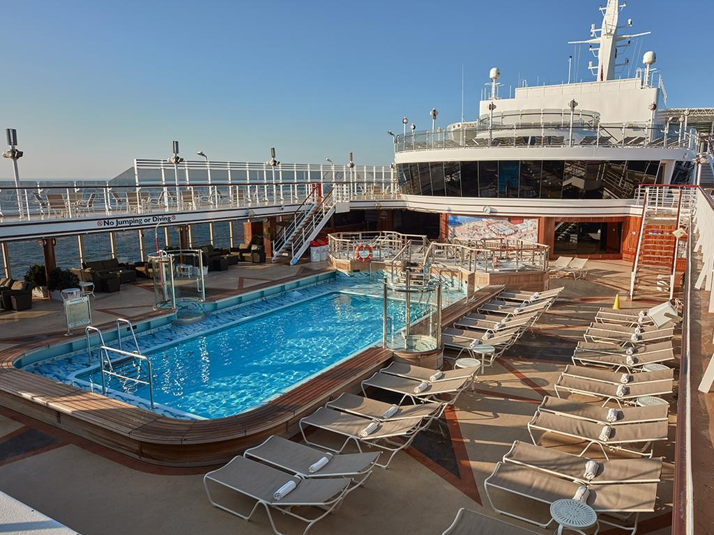 The Lido Pool on Cunard ship Queen Elizabeth.