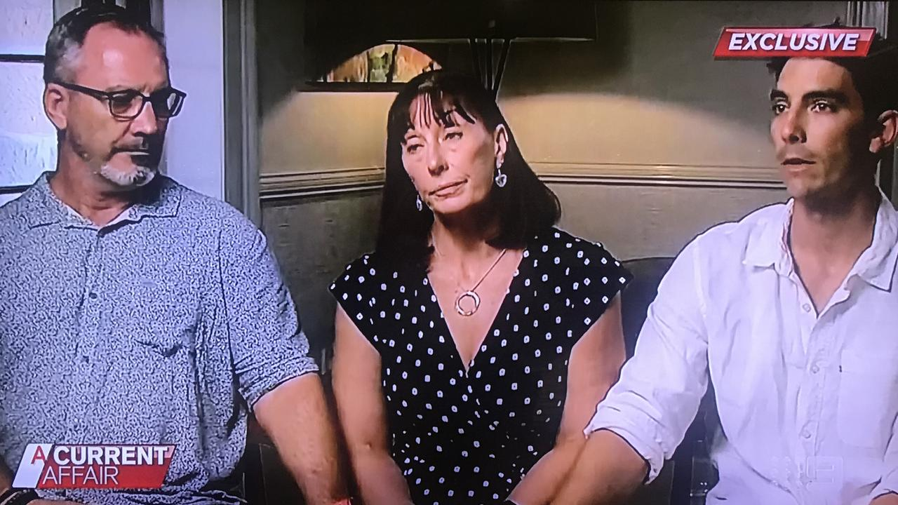 Hannah Clarke's parents Lloyd and Suzanne and brother Nat on A Current Affair.