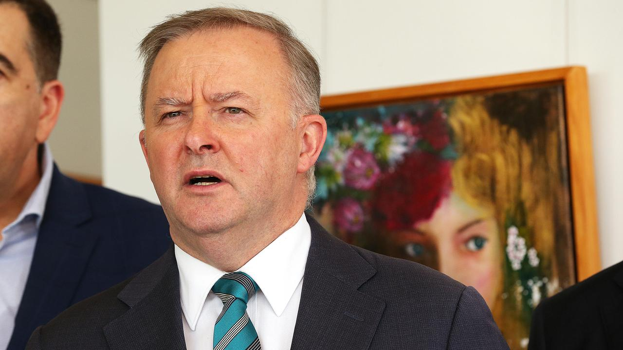 SPRUIKING RENEWABLES: Leader of the Australian Labor Party, Anthony Albanese. Picture: Lyndon Mechielsen/The Australian