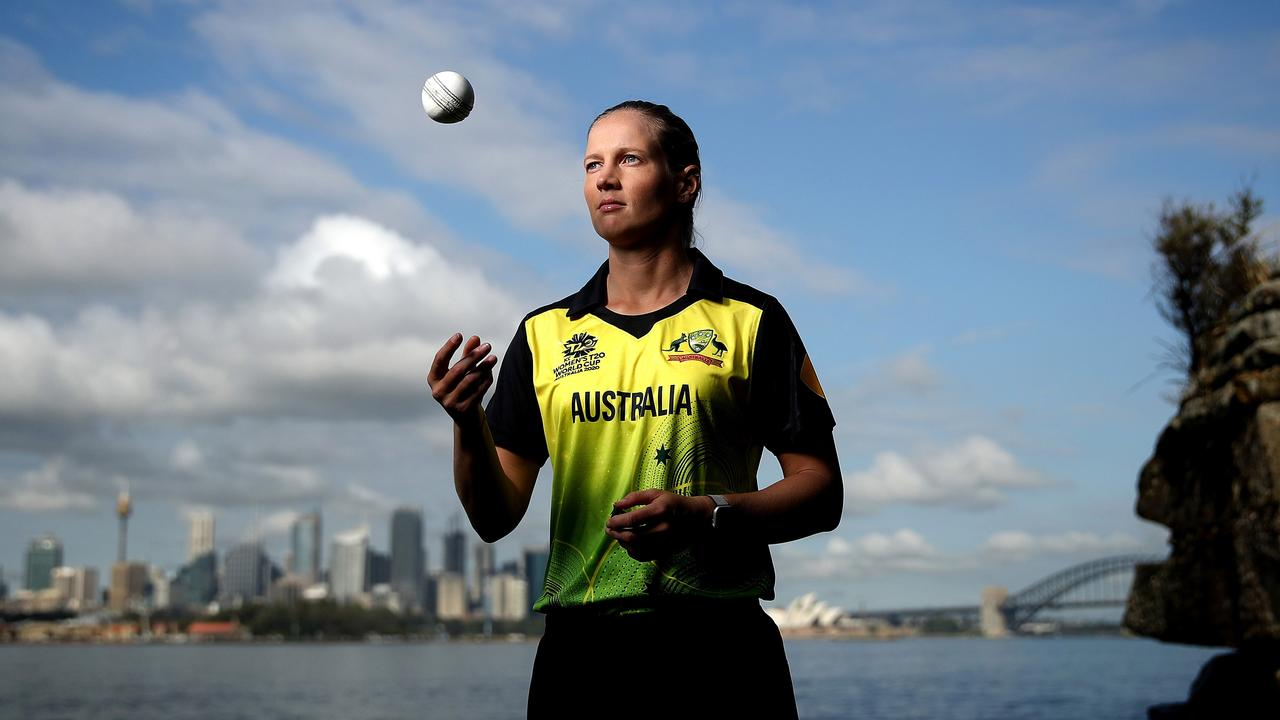Australian captain Meg Lanning at Bradley's Head in Sydney ahead of the the launch of the ICC Women's T20 Cricket World Cup. Picture. Phil Hillyard