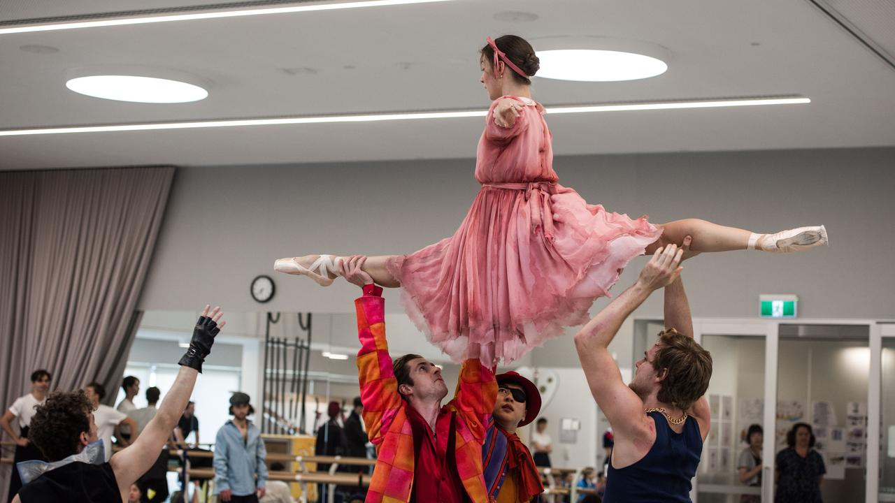 Benedicte Bemet as the Little Match Girl during rehearsals for The Happy Prince. Photo: Supplied.