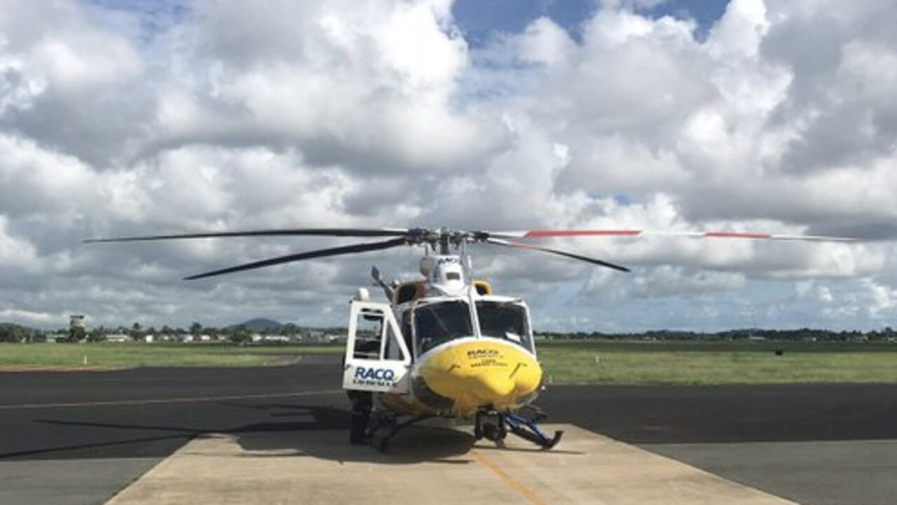 RACQ CQ Rescue is heading to Creal Reef to winch two patients off a cruise ship. Photo: RACQ CQ Rescue