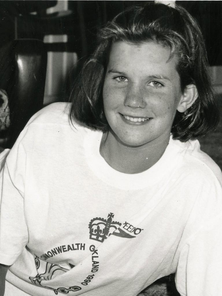 Jenny McMahon as a teenager making Australian swim teams. Picture: QT file