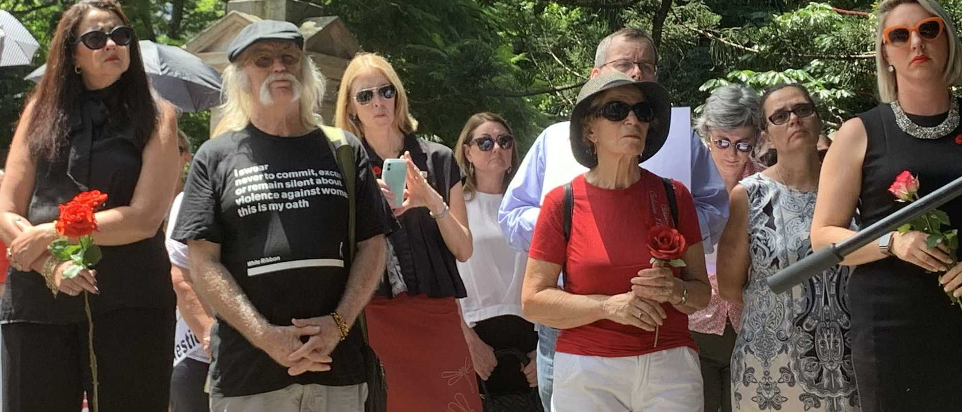 Community and political leaders have united at the Red Rose Rally, demanding action on domestic violence laws in the aftermath of the Camp Hill murders.