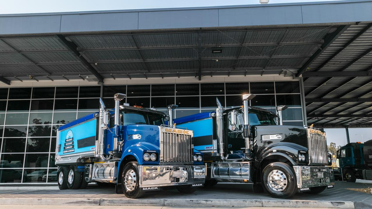 The shiny new two 100 Years Limited Edition Mack Tridents.