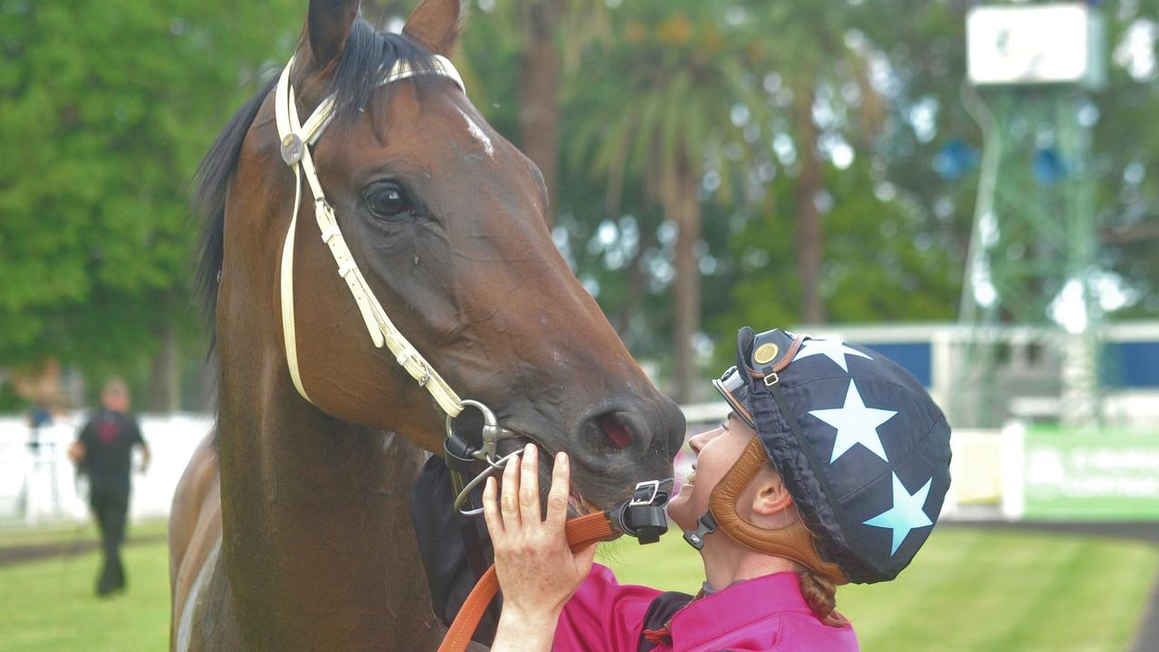 Rachel Murray with Warren Gavenlock's Plonka after winning the Country Championships qualifying heat moved from Coffs Harbour to Grafton's Clarence River Jockey Club on Thursday, February 20.