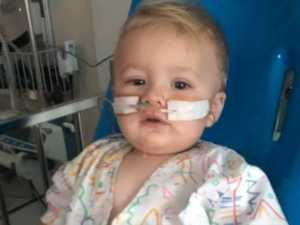 Baby Kaiden out of coma and giggling with siblings
