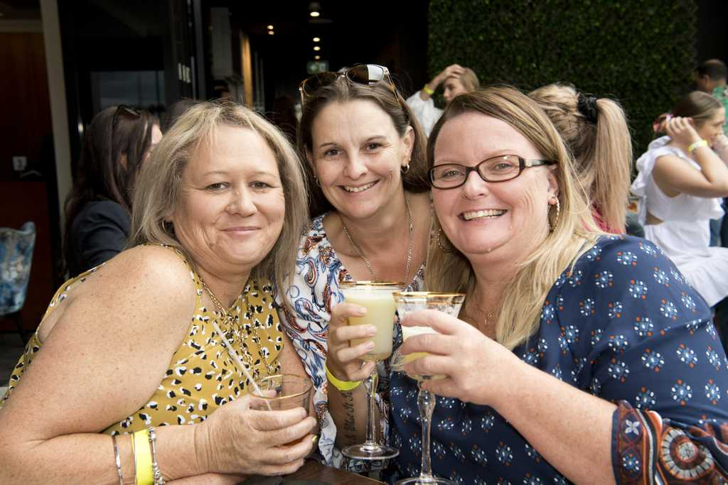 Image for sale: ( From left ) Trish Cronon, Raquel O'Doherty and Katrina Milsom. World Margarita Day on the rooftop at George Banks. Saturday, 22nd Feb, 2020.