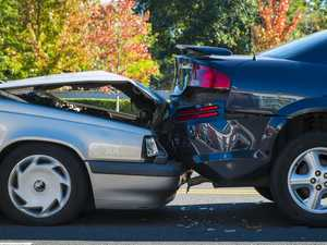 Elderly woman treated for spinal injury after crash