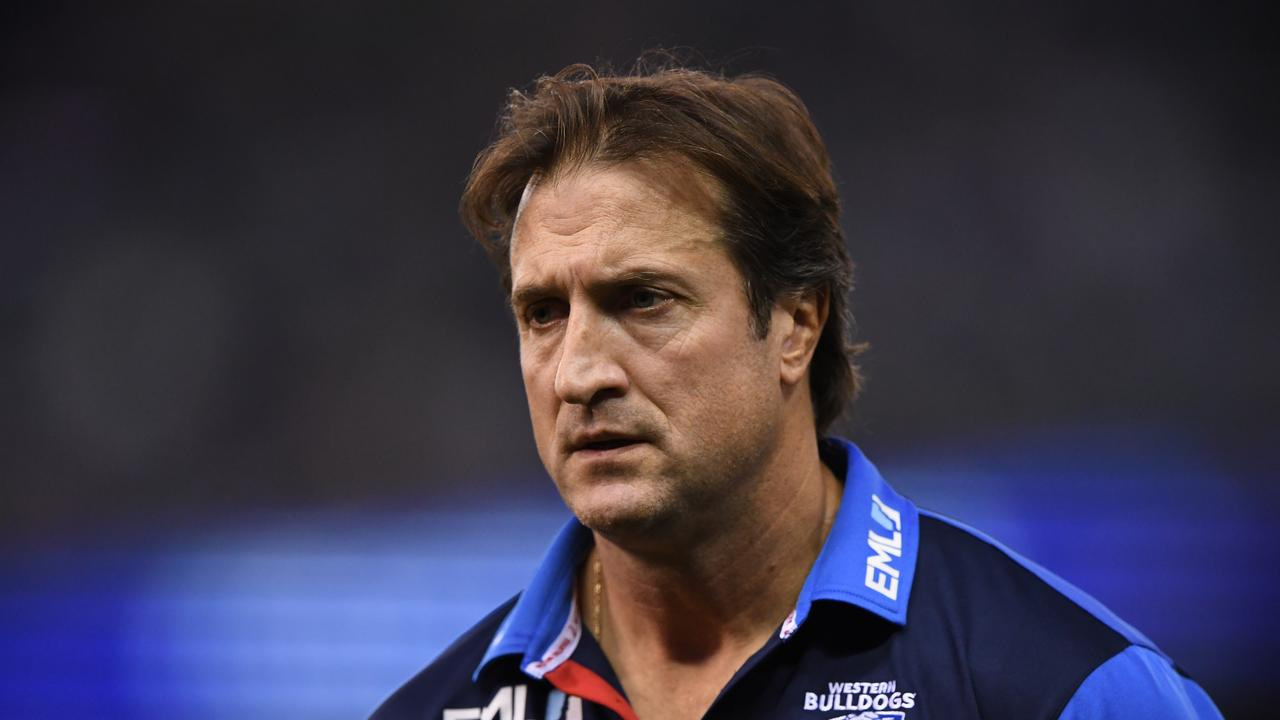 Western Bulldogs coach Luke Beveridge wasn't happy post-game.