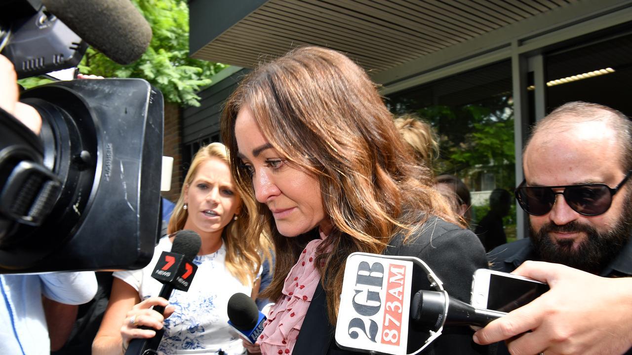 Michelle Bridges leaves Waverley Court in Sydney.