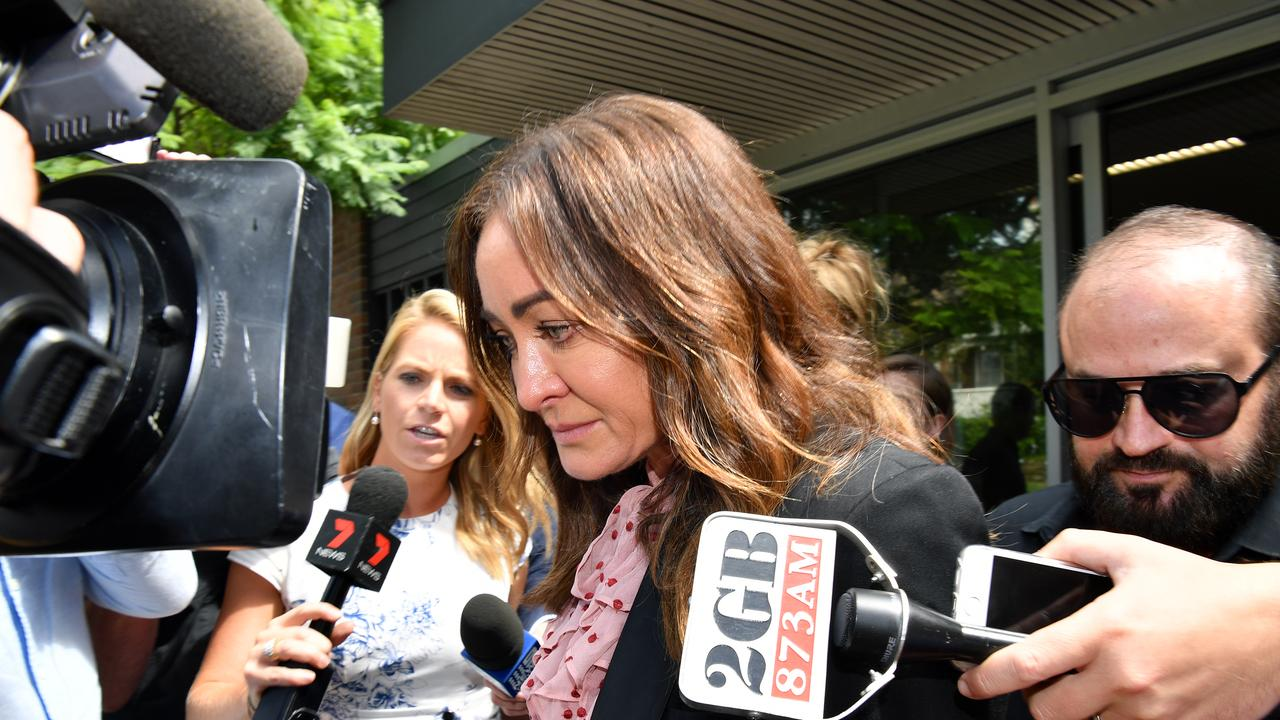 Michelle Bridges leaves Waverley Court in Sydney.