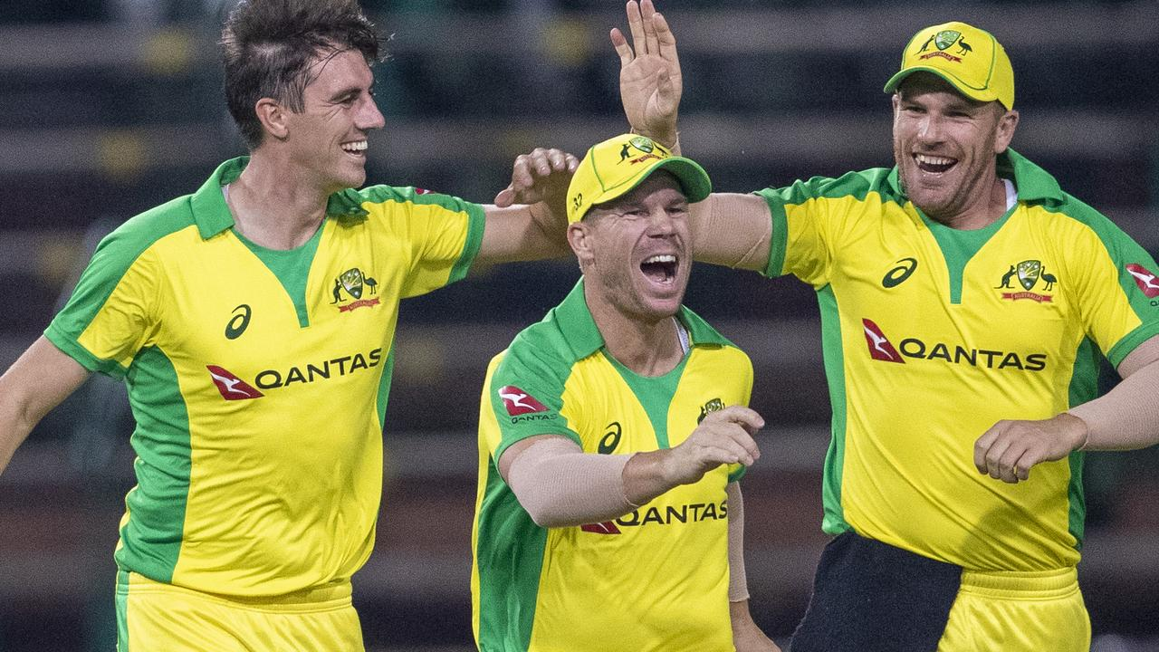 David Warner had plenty to celebrate as the Aussies secured a big win.