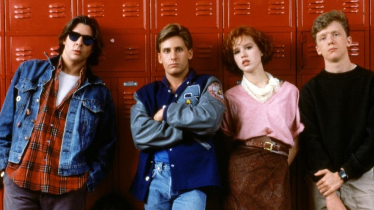 Judd Nelson, Ally Sheedy, Emilio Estevez, Molly Ringwald and Anthony Michael Hall from the 1985 film The Breakfast Club.