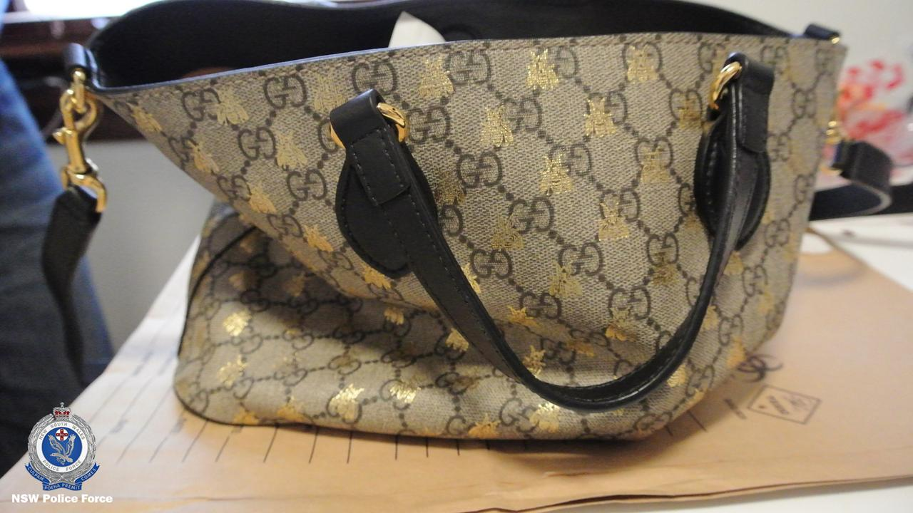 A Louis Vuitton bag seized in the raid. Picture: NSW Police