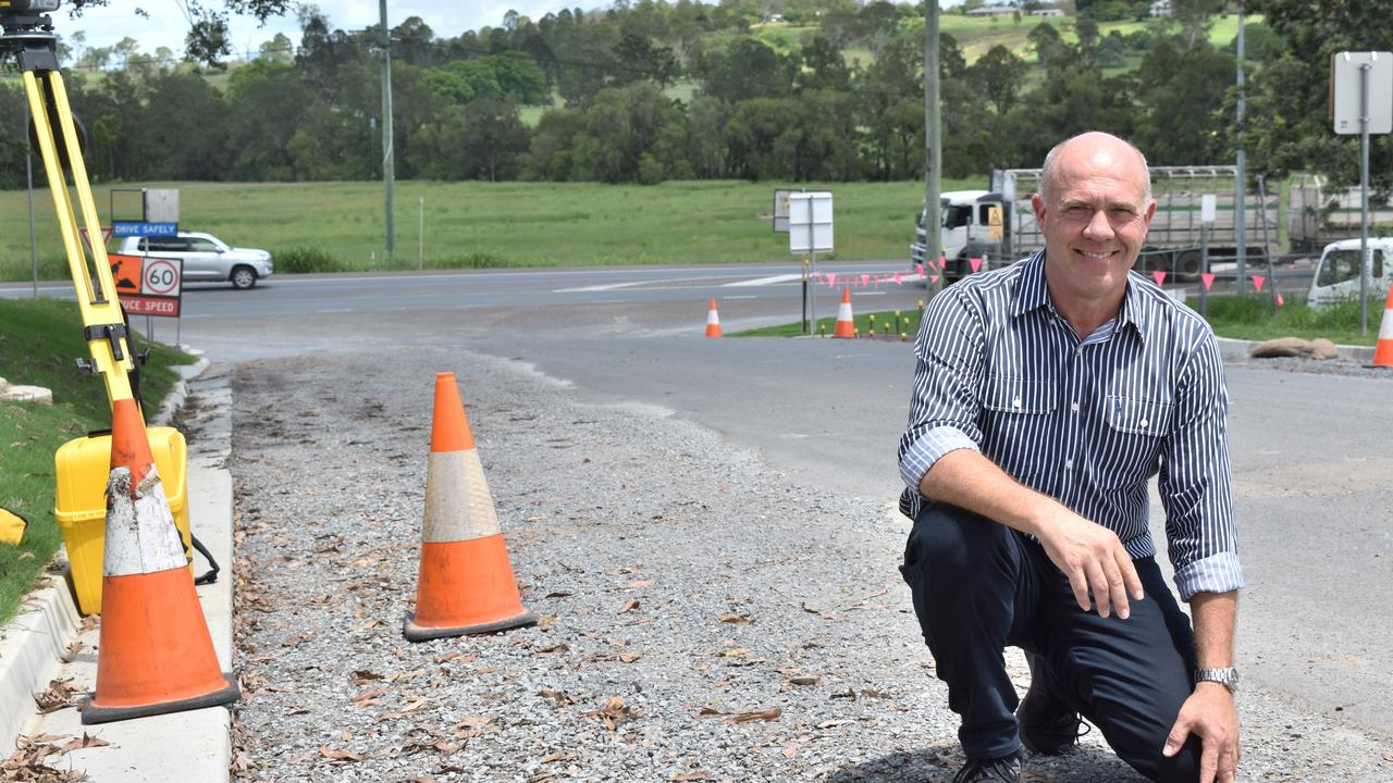 Division 3 Councillor Mal Gear at the site of the Wadell Rd upgrades, which will create more jobs at local business CPM Engineering.