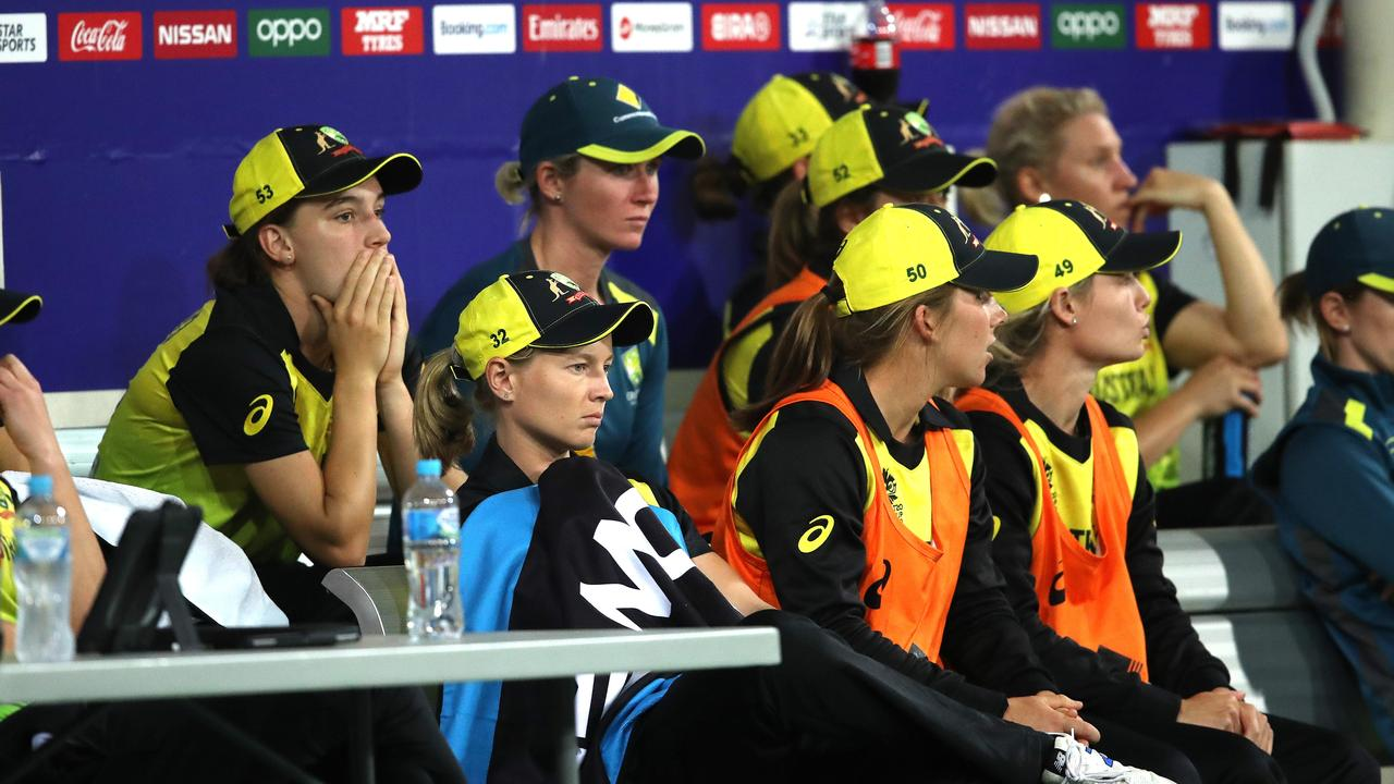 Worried looks abound on the Aussie bench on Friday night.