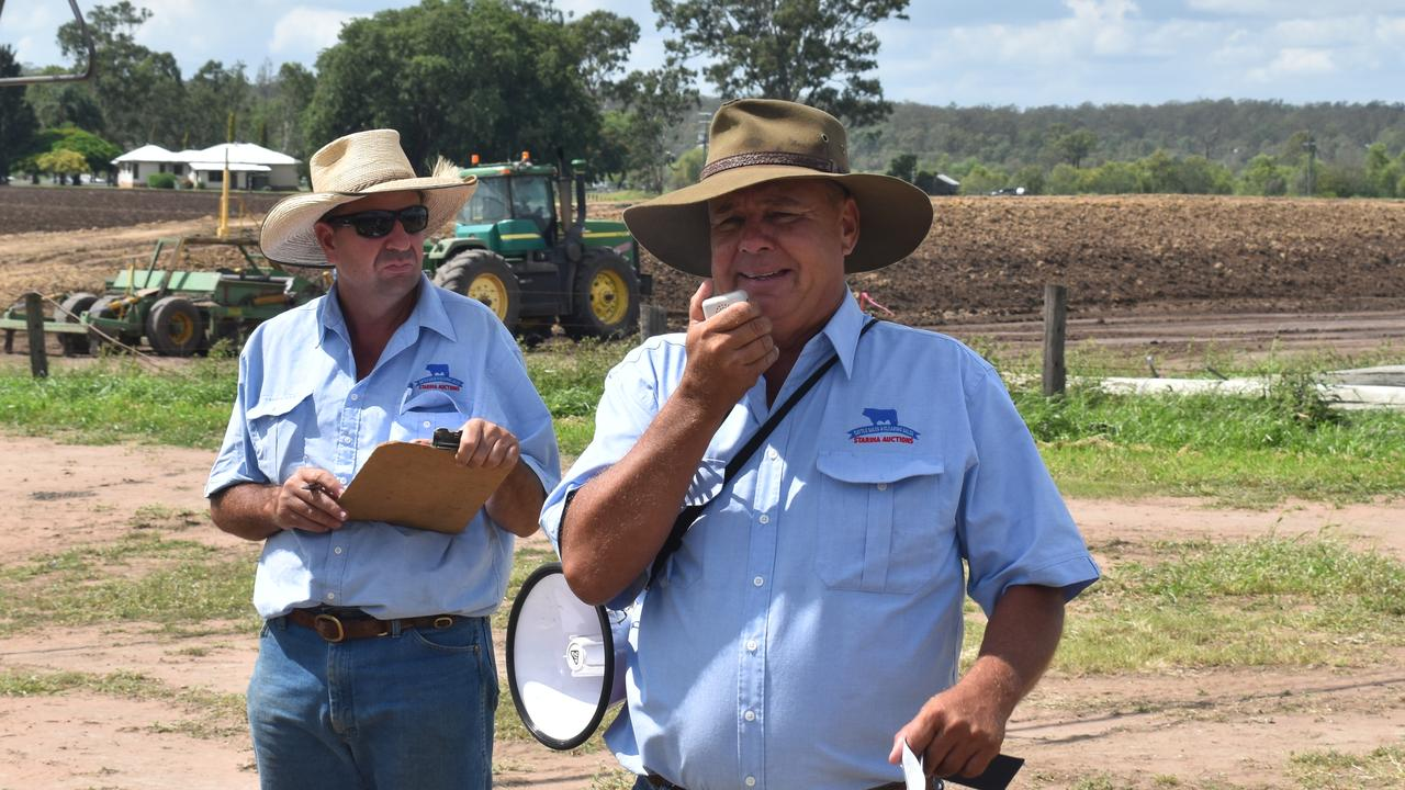 Auctioneer David Stariha and his team presided over the Zischke Farm Clearing Sale.