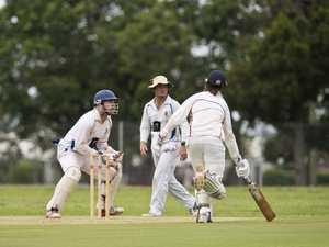 University wicketkeeper Dean Sullivan against