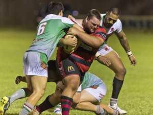 Josh Mason of Valleys against Beenleigh in a