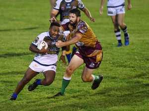 City player Jahleel Doolah trys too run around