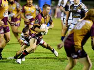 Country player Kyle Kennedy vs Country. Picture: Tony