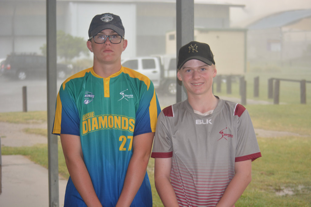 MAKING A STORM: Nick Noonan and Josh Wilson and Nick Gehrmann (INSET) have made Australian Diamond teams that will play in two separate competitions in April and July.