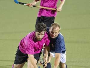 James Lush, GCC and Garth Miller, Strikers. GCC Pink