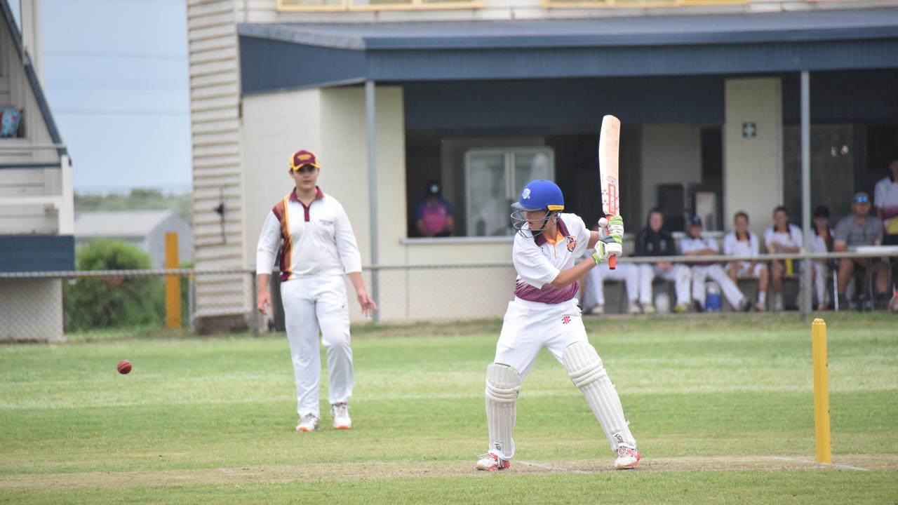 South Burnett U16 Jake Sippel finished the day on 9 runs. (Picture: Tristan Evert)