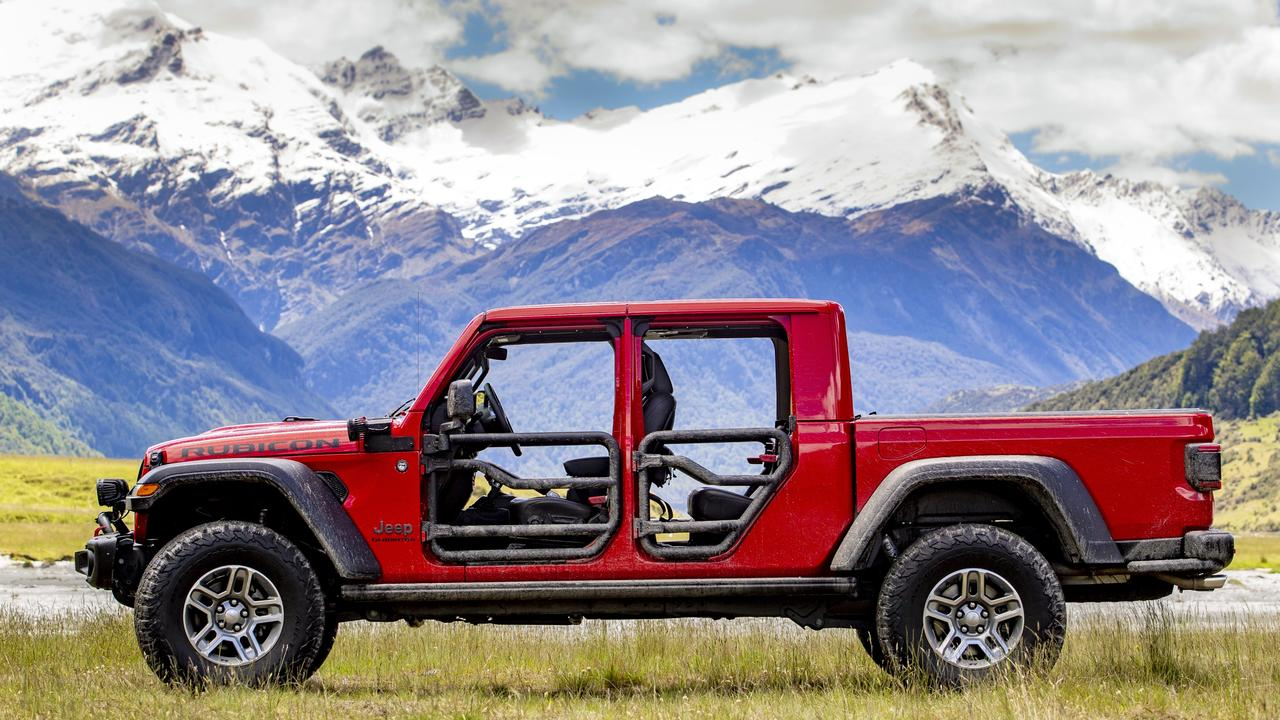 The 2020 Jeep Gladiator in New Zealand (overseas model shown).