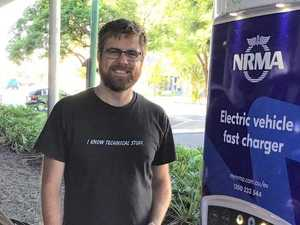 Charging to an electric car future at library