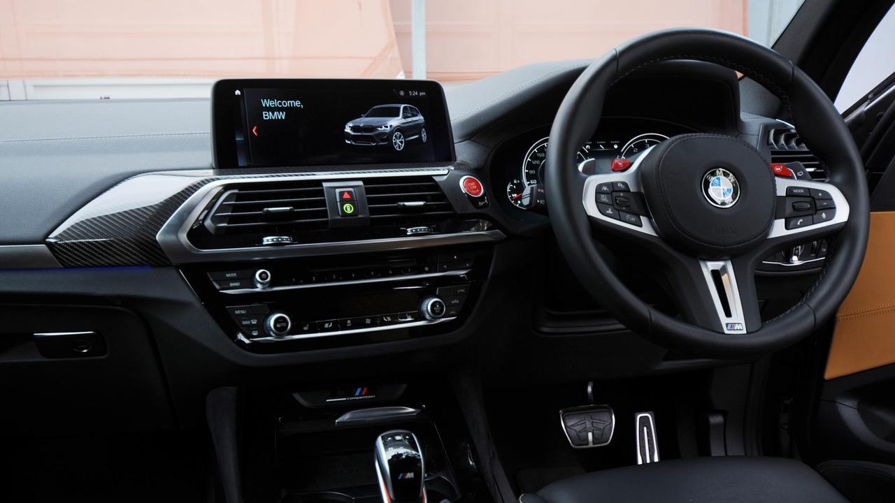 Inside the BMW X3 M.