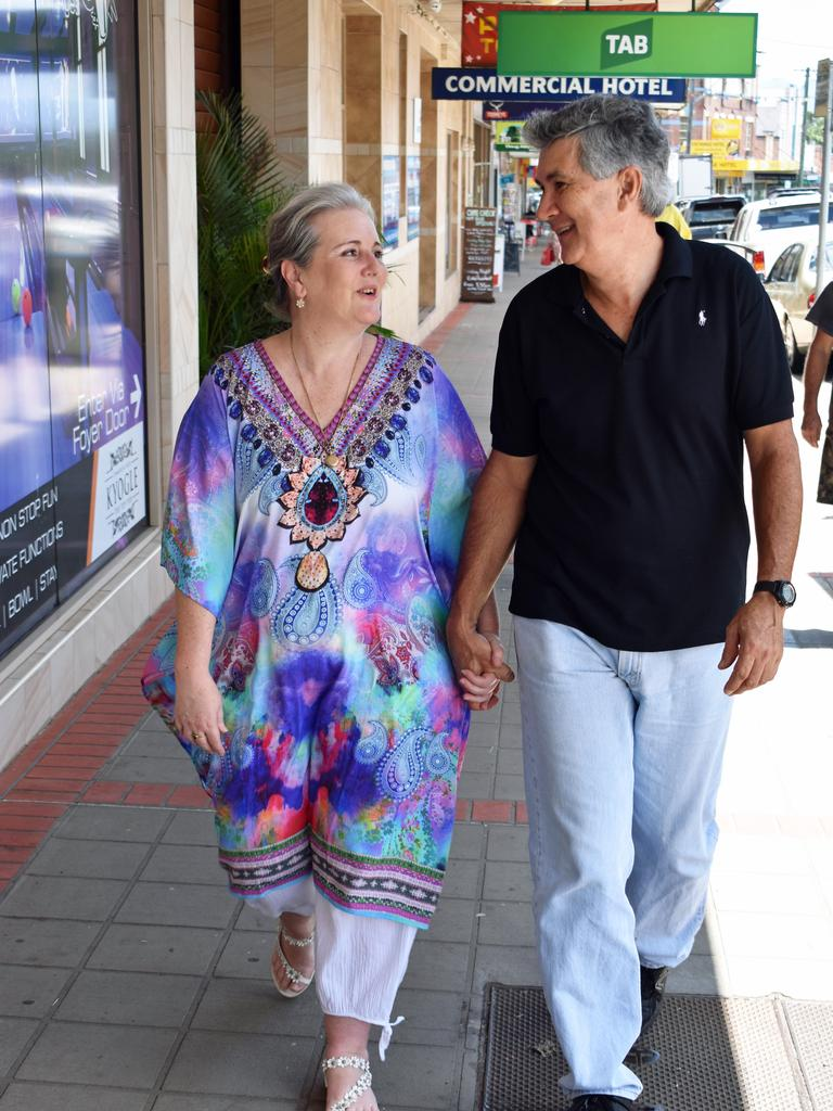 Kyogle mayor Danielle Mulholland with her partner Simon Dejoux in Kyogle. PIC: SUSANNA FREYMARK