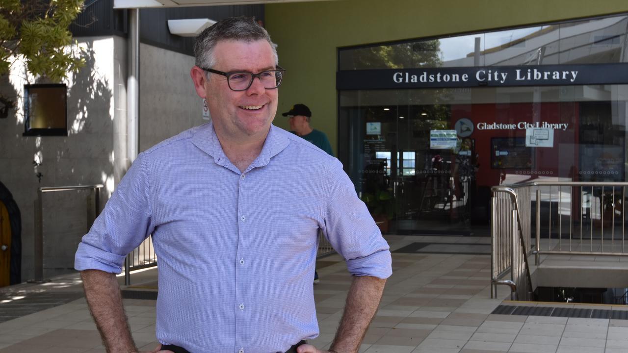 Senator Murray Watt addresses media in Gladstone about the lack of bushfire relief funding for the region