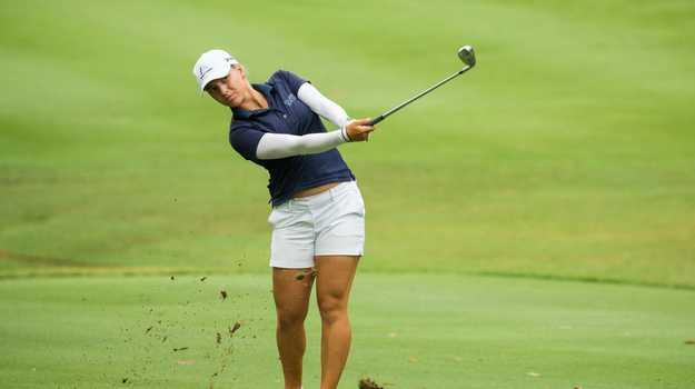 Stephanie Kyriacou of Australia during the final round.