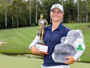 Champion settles for trophy and cuddly koala over cash