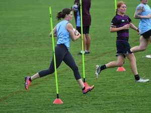 Capras women training session, Kelli Dunlop.