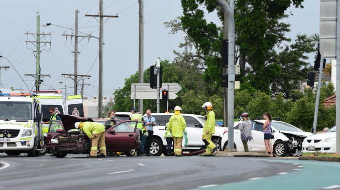 Two taken to hospital after morning crash