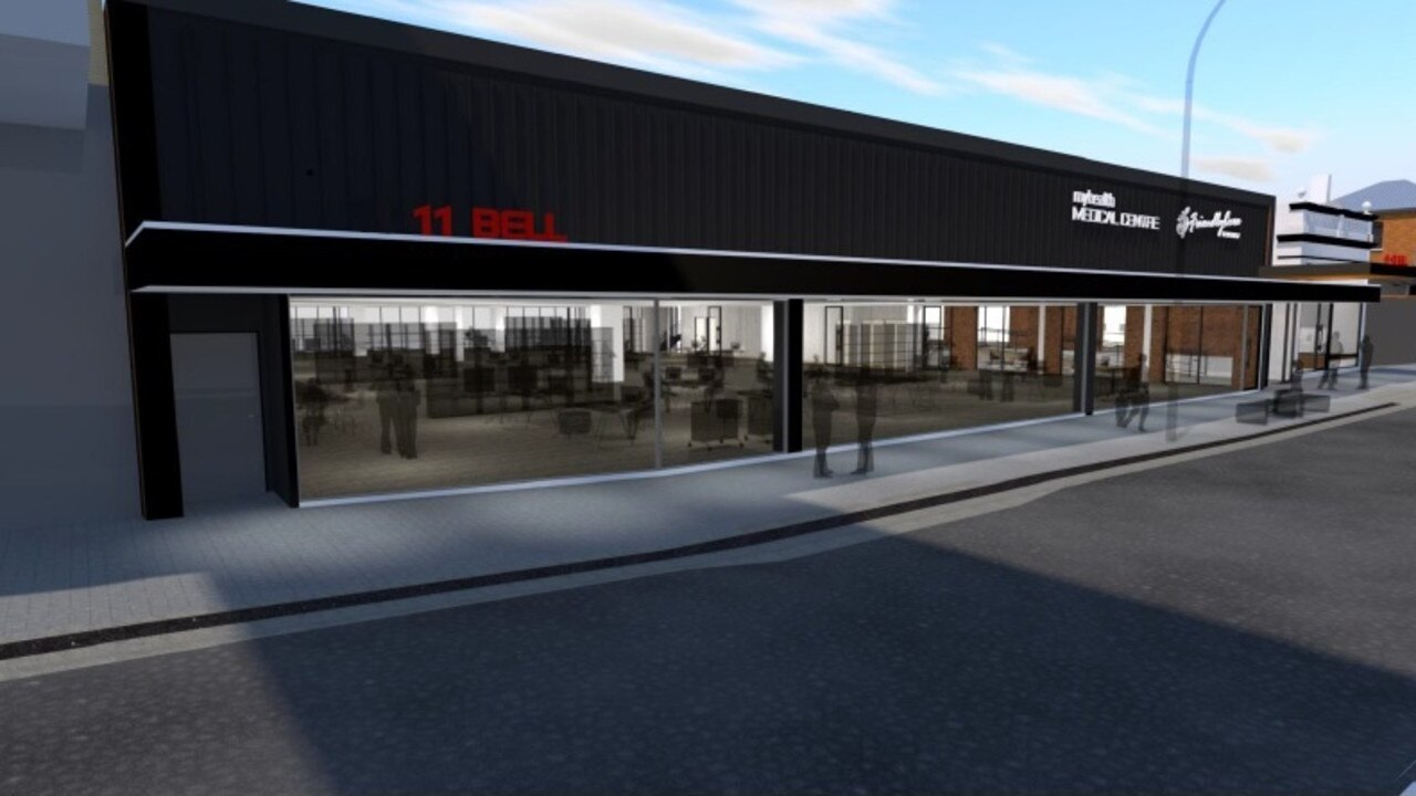 An artist's impression of how the newly refurbished building on Bell Street will look upon completion