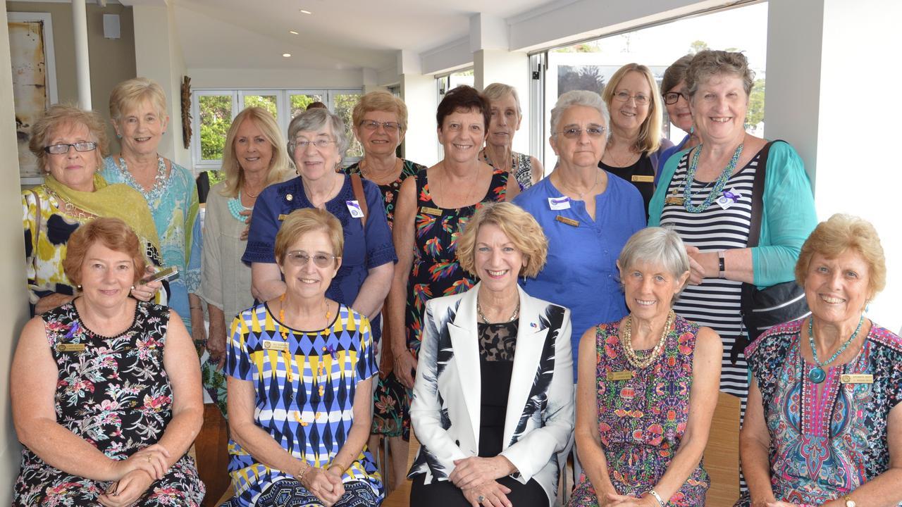 Soroptimist International Brisbane Water members with last year's International Women's Day Breakfast guest speaker, Professor of Criminology Eileen Baldry.