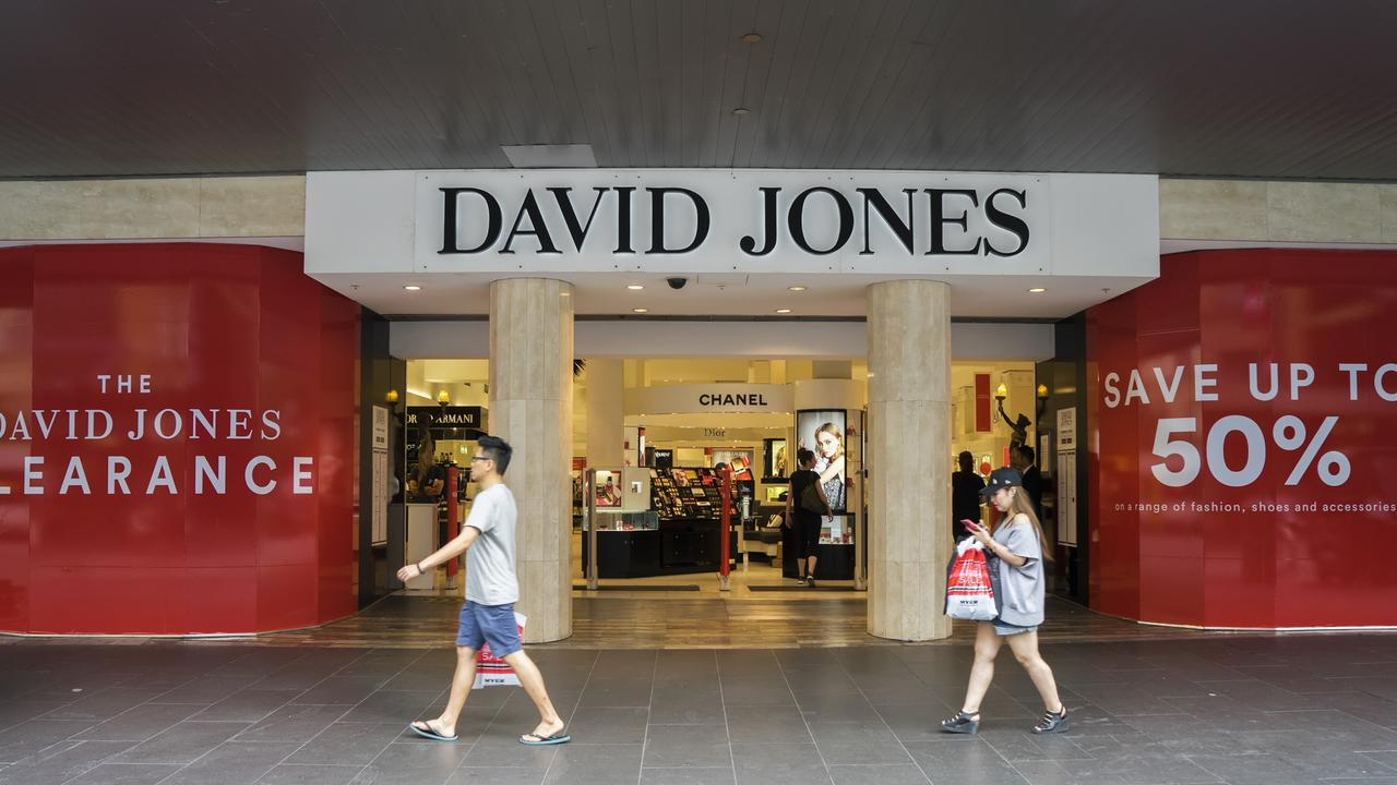 More David Jones closures are on the cards. Picture: iStock