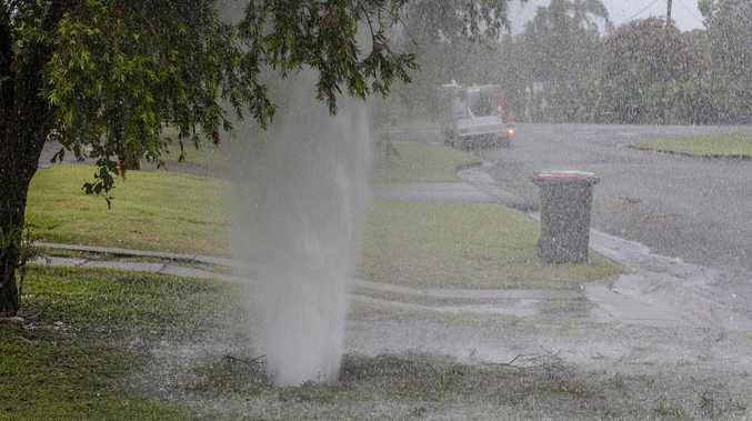 Water rains down on South Grafton street