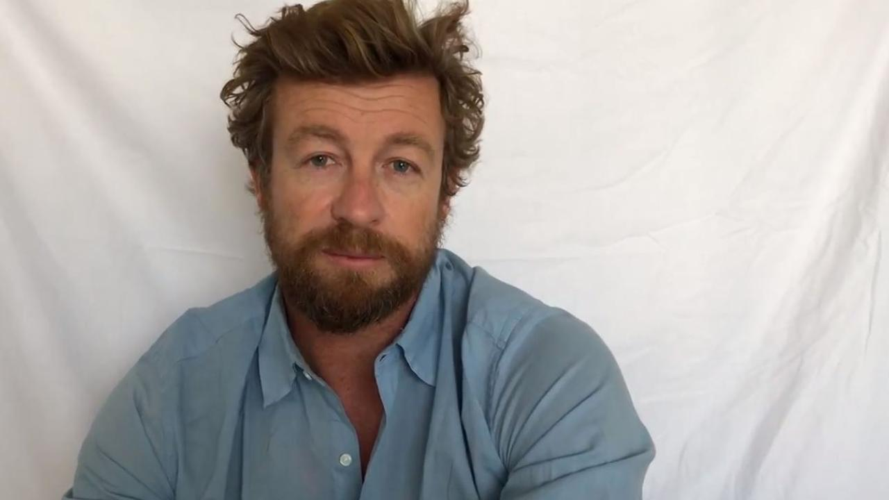Actor Simon Baker says 'mate, sorry to do this to you'. Source: Greenpeace.