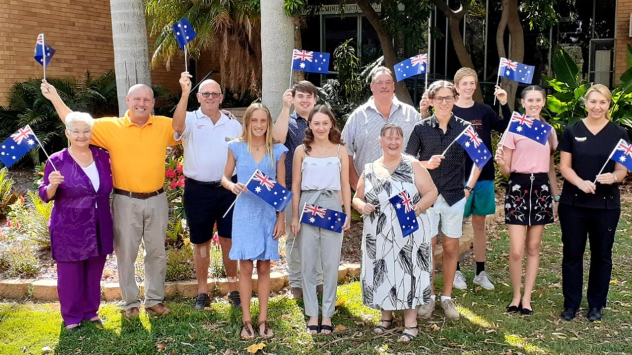 The nominees for this year's Coffs Harbour Awards - from left Citizen of the Year winner Jean Vickery with Michael Bourne, Warren Hollyman (representing Sawtell Fun Day), Olissa Onley, Kaleb Darbin, Emma Millie Serisier, Dean Evers, Nora Brooks, Teo Ross, Nathan Stary-Wynn, Heather Orme and Barbara Haigh. Picture submitted by Coffs Harbour City Council.