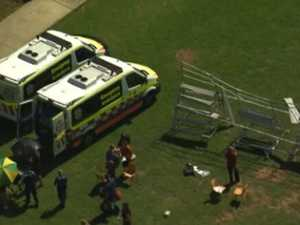 Students injured in scaffolding collapse