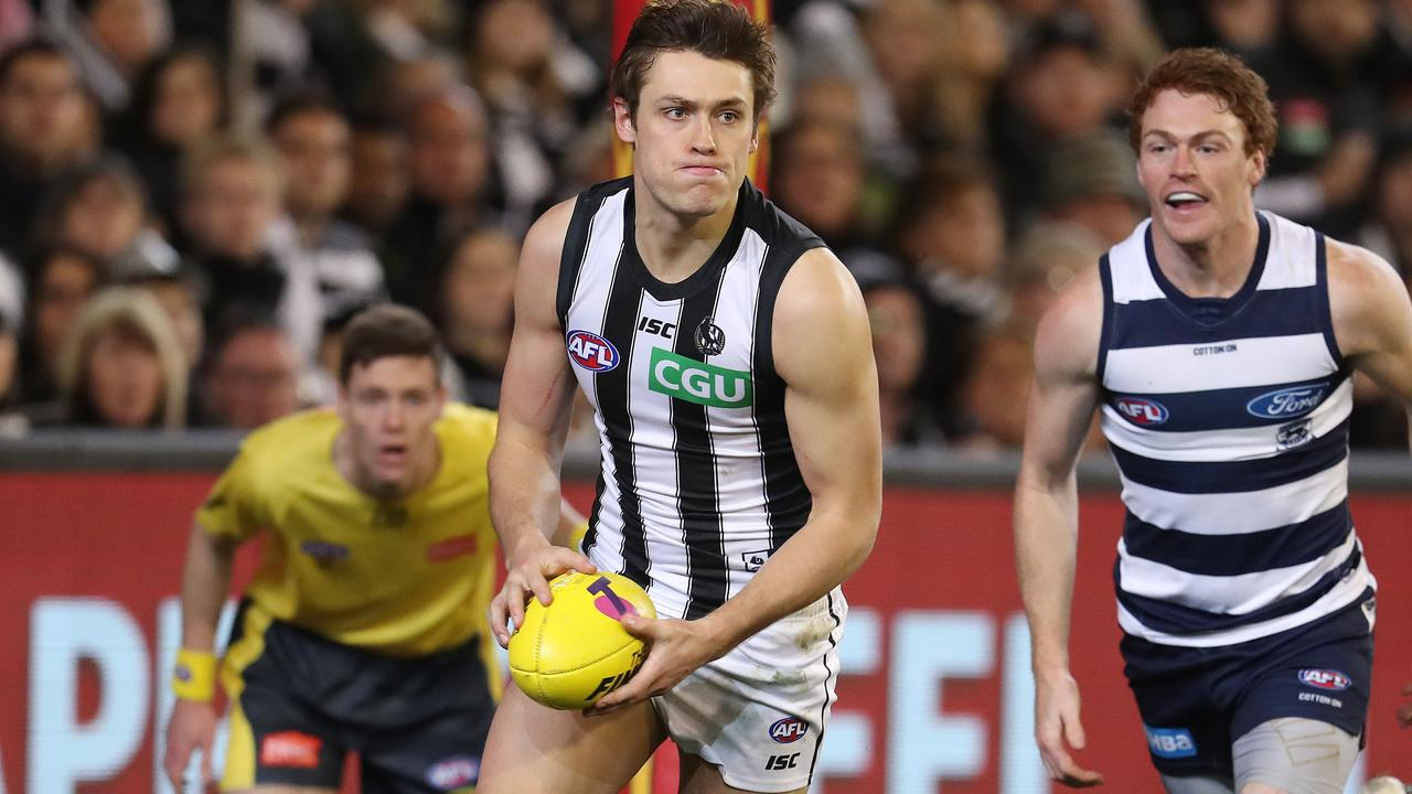Darcy Moore is in no rush to re-sign with Collingwood. Picture: Michael Klein