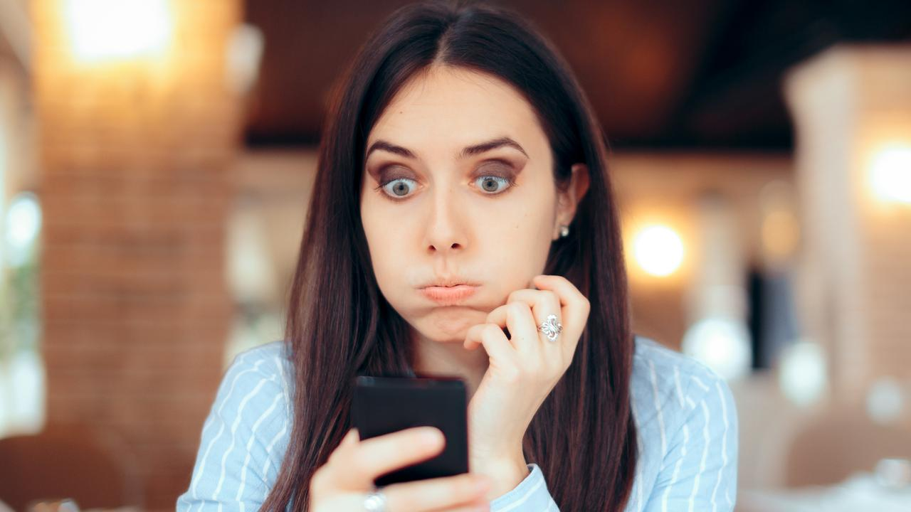 A woman's screenshot of a text message between herself and a former crush has the internet saying the man's excuse is totally off the dial. Picture: iStock