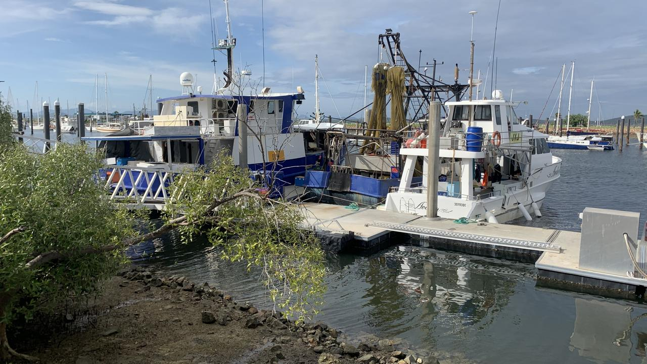 DOCKED: Boats, which should be out fishing have been docked, meaning fishermen have been without an income for