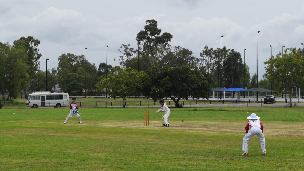 COVER DRIVE: Liam Burnett from the Biloela Junior Cricket Club bats against the Central Highlands' Gold team at the U11 Intercity T20 Carnival in Biloela.